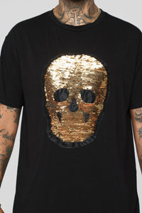 Gold Face Short Sleeve Tee - Black/Combo