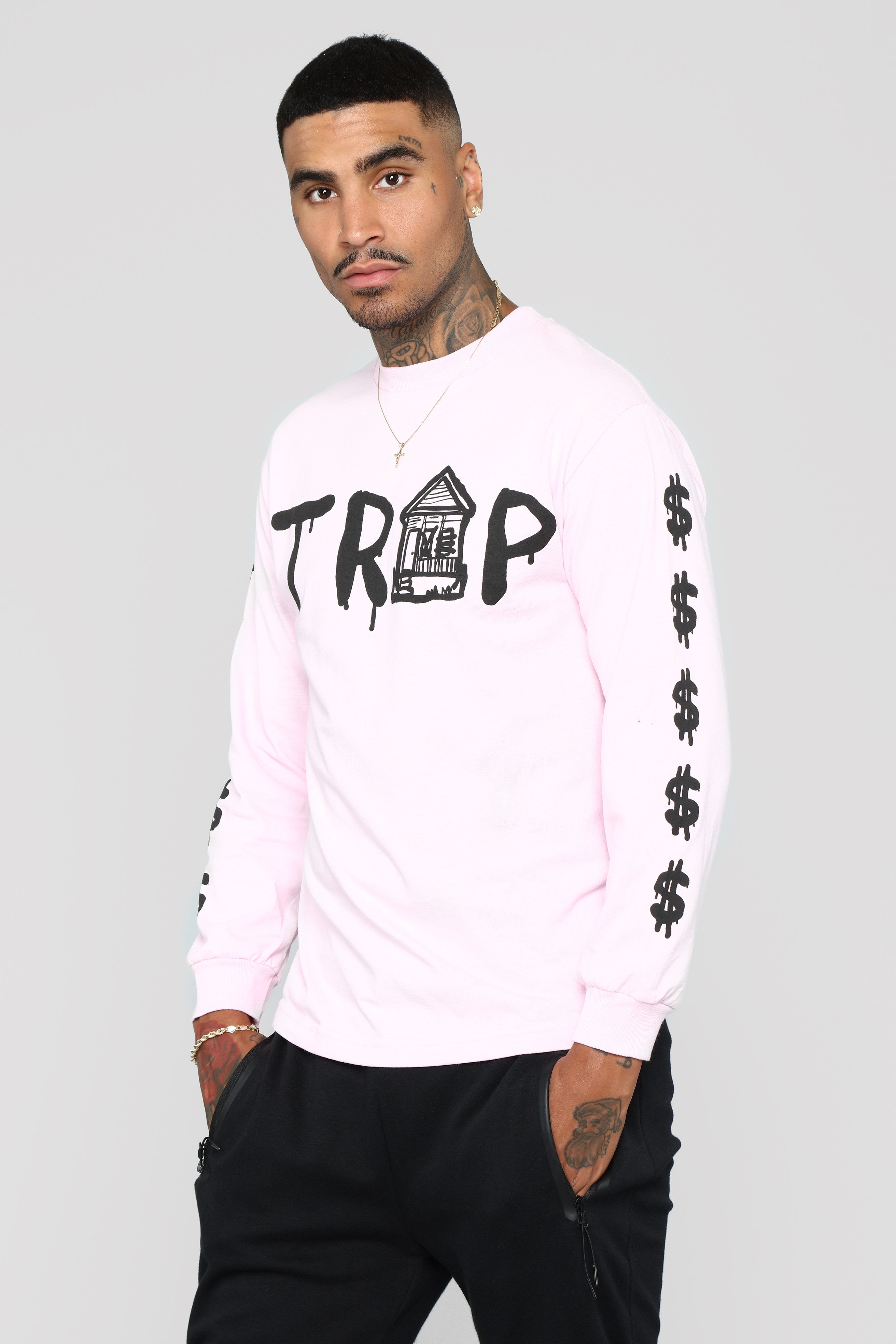 Trap House Tee Pink