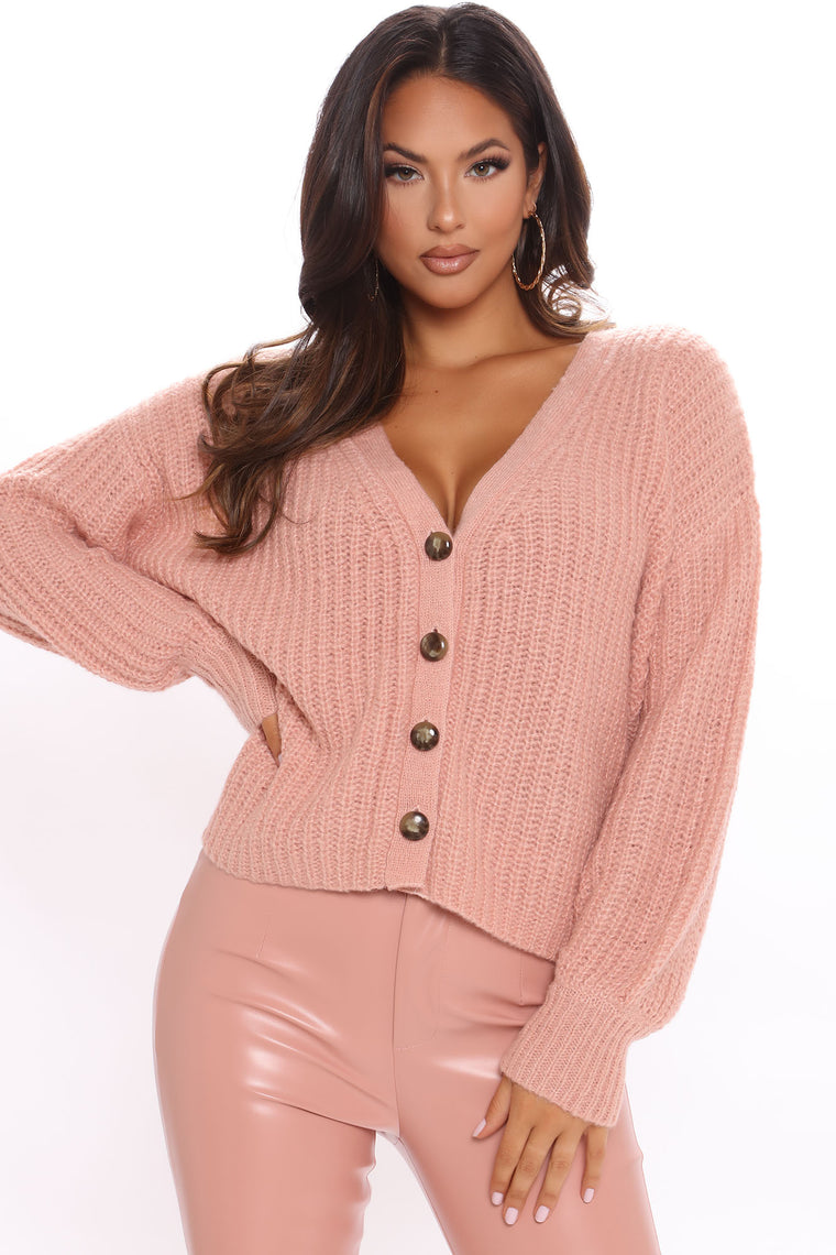 Knit Yours Oversized Cardigan - Rose
