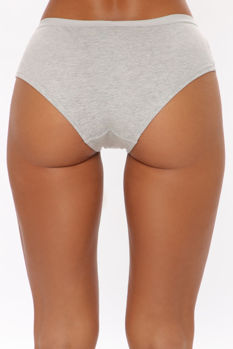 Perfect Fit Cotton Hipster Panty - Grey