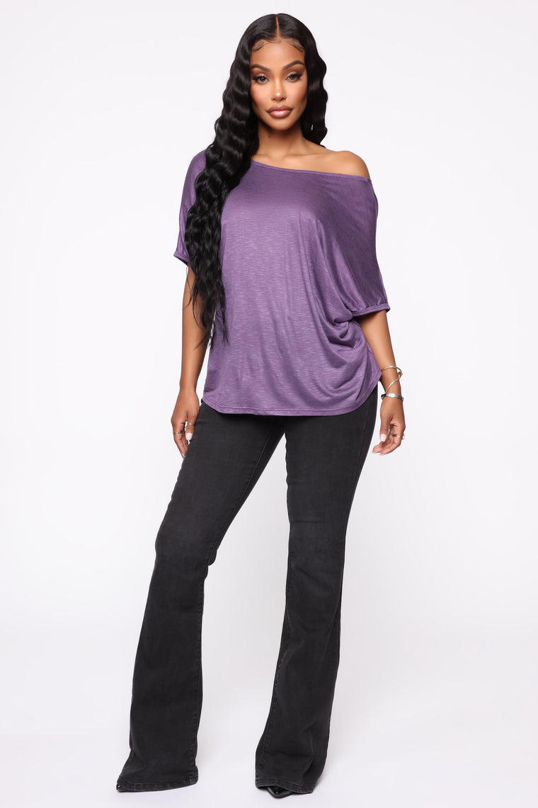 Simple Perfection Twist Back Top - Lilac