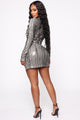 Perfectly Split Sequin Mini Dress - Black/combo