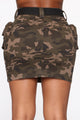 Beep Me Denim Mini Skirt - Camo