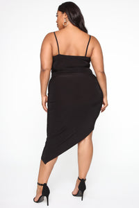 Lost For Words Midi Dress - Black