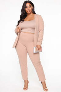 Payin' It Forward Blazer Set - Mocha Angle 9