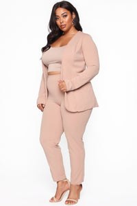 Payin' It Forward Blazer Set - Mocha