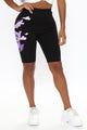 Wrapped Up In You Bike Short - Black/Purple