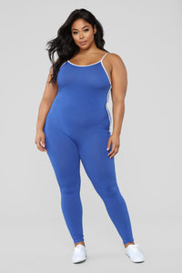 Post Gym Selfie Jumpsuit - Royal Angle 6