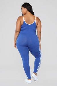 Post Gym Selfie Jumpsuit - Royal Angle 8