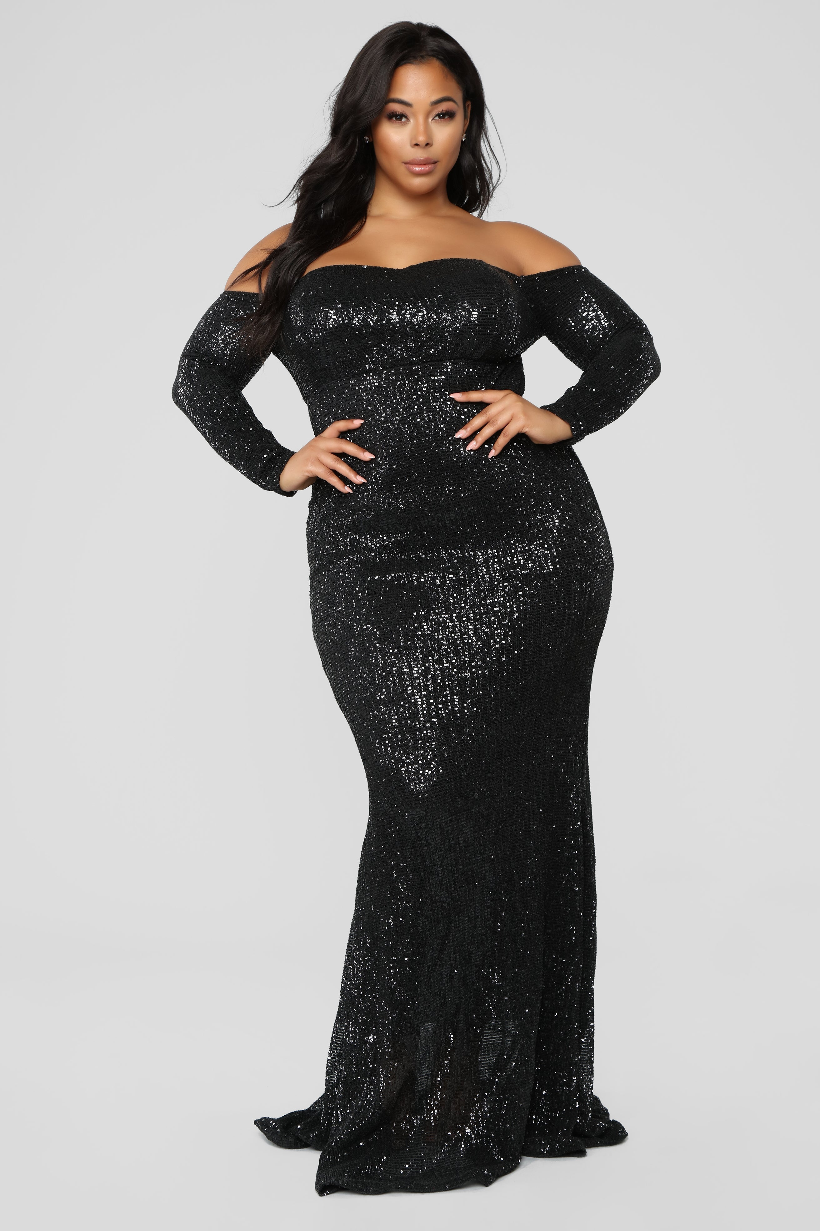 ecb70824733 Sequin Top Maxi Dress Plus Size - Data Dynamic AG