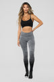 Shayla Performance Leggings - Charcoal/Black