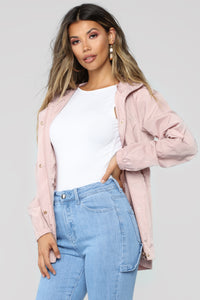 One Way Out Jacket - Mauve Angle 1