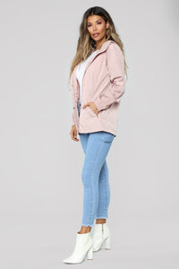One Way Out Jacket - Mauve Angle 2