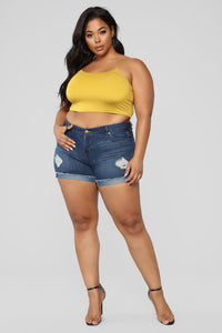 KiKi Cropped Top - Mustard Angle 8