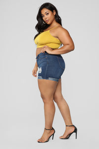 KiKi Cropped Top - Mustard Angle 10