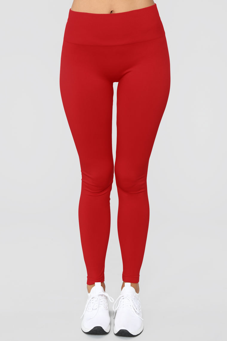 Shaper Seamless Compression Leggings - Red