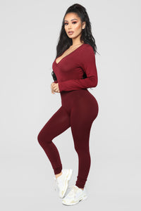 Voted Most Popular Bodysuit - Burgundy Angle 8