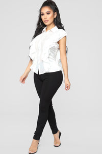 Back To You Ruffle Blouse - White