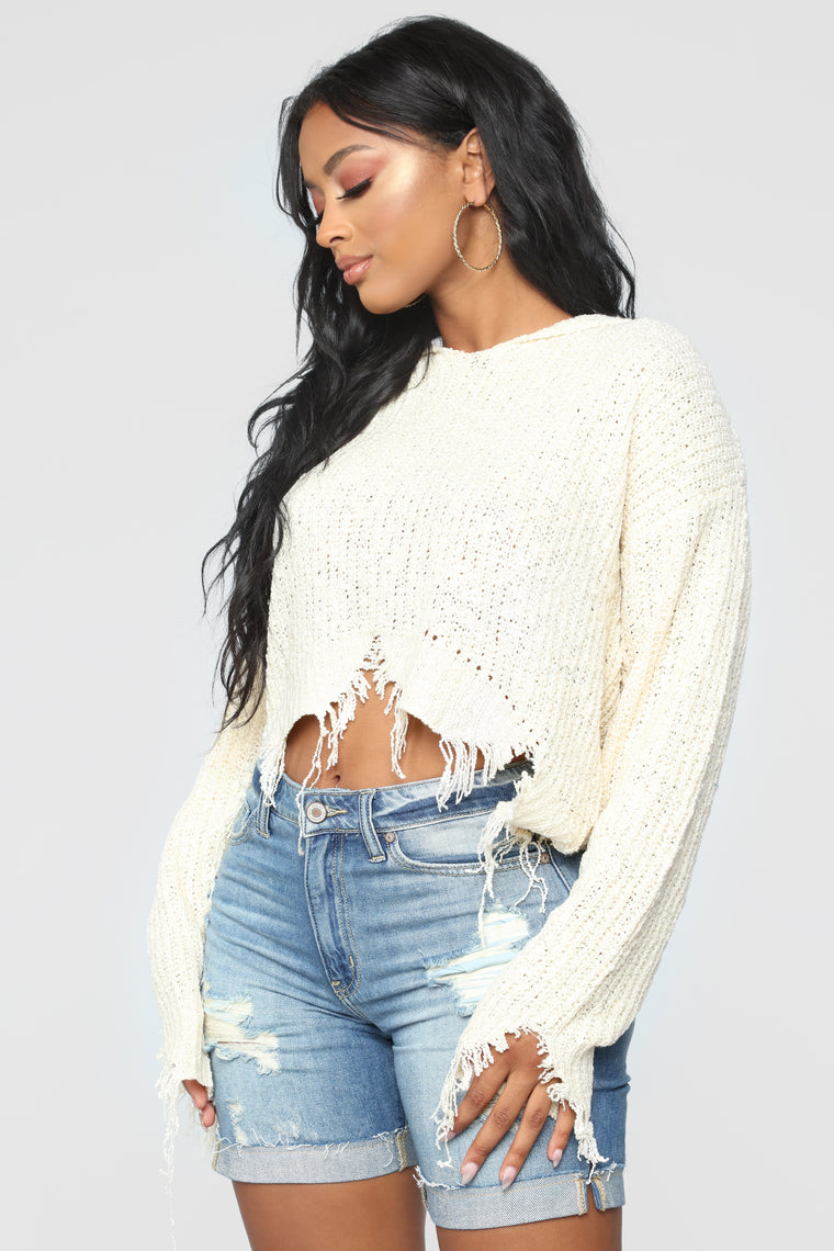 Feeling Torn Sweater - Ivory