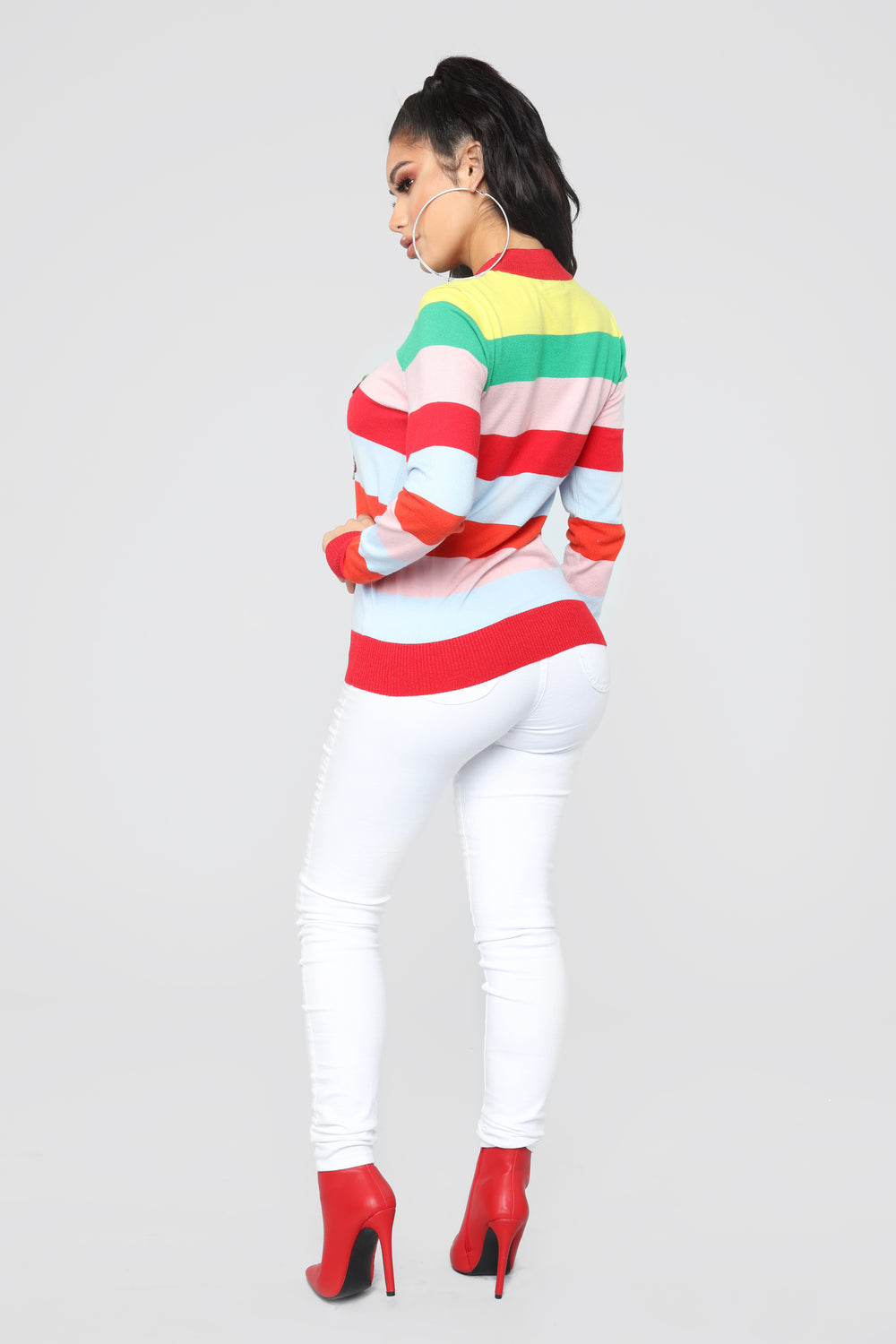 Fierce Lover Stripe Sweater - MultiColor