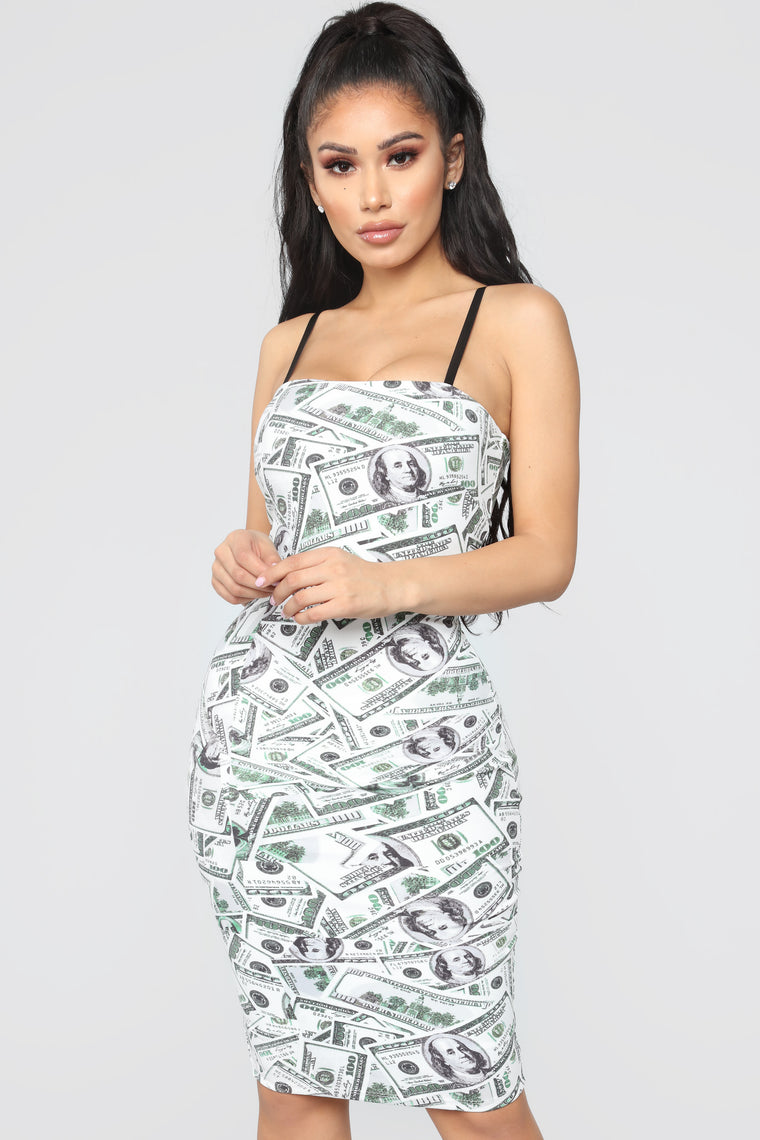 Look At All My Money Dress - Off White