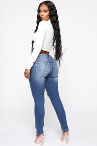 At My Best Skinny Jeans - Medium Blue Wash