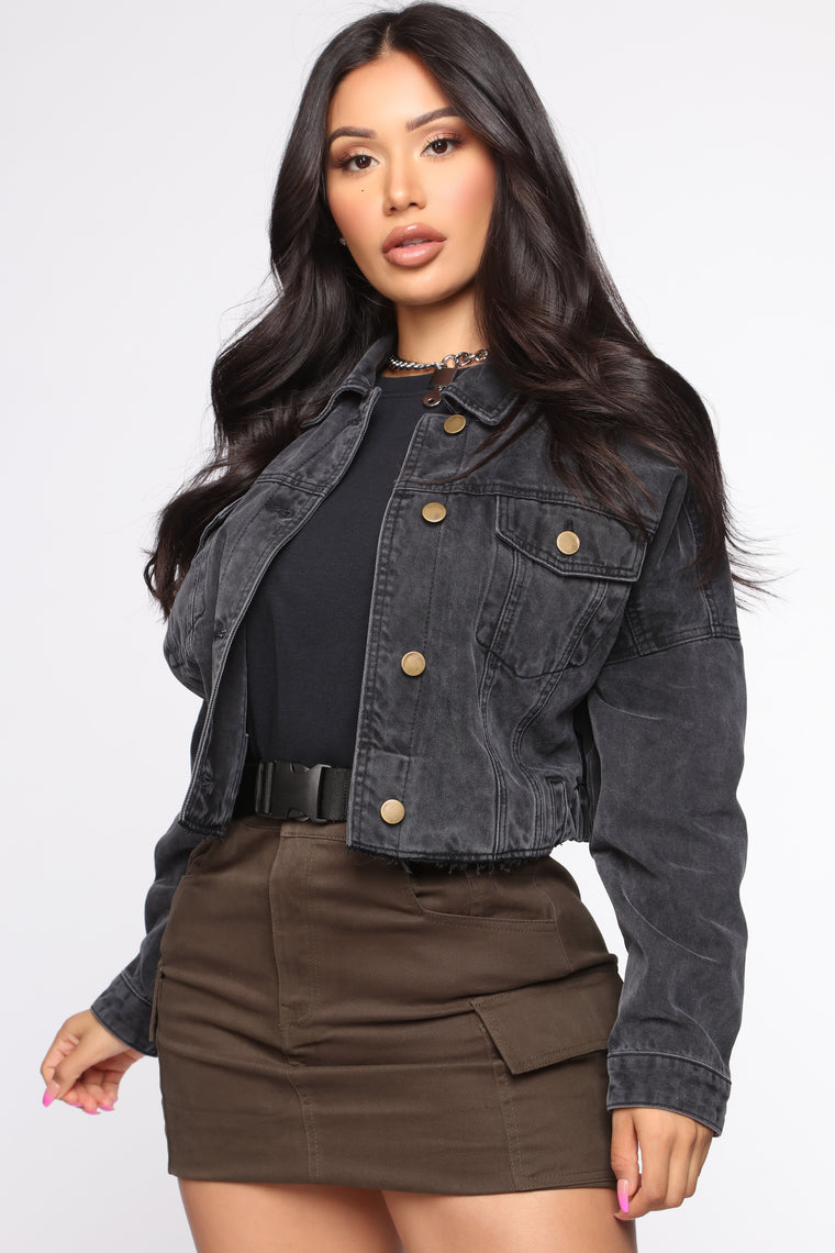 Sweet Desire Denim Jacket - Black