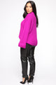 With All My Love Turtle Neck Sweater - Magenta