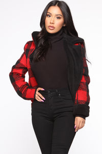 Long Distance Jacket - Red/Black Angle 1