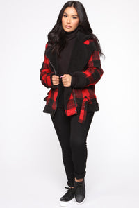 Long Distance Jacket - Red/Black Angle 2