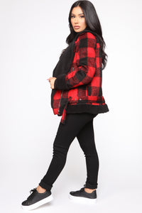 Long Distance Jacket - Red/Black Angle 4
