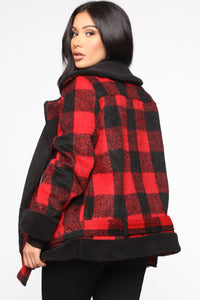 Long Distance Jacket - Red/Black Angle 3