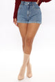 Marceline Denim Mom Shorts - Medium Blue Wash