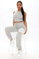 Penthouse Chill Tank And Jogger Set - Grey