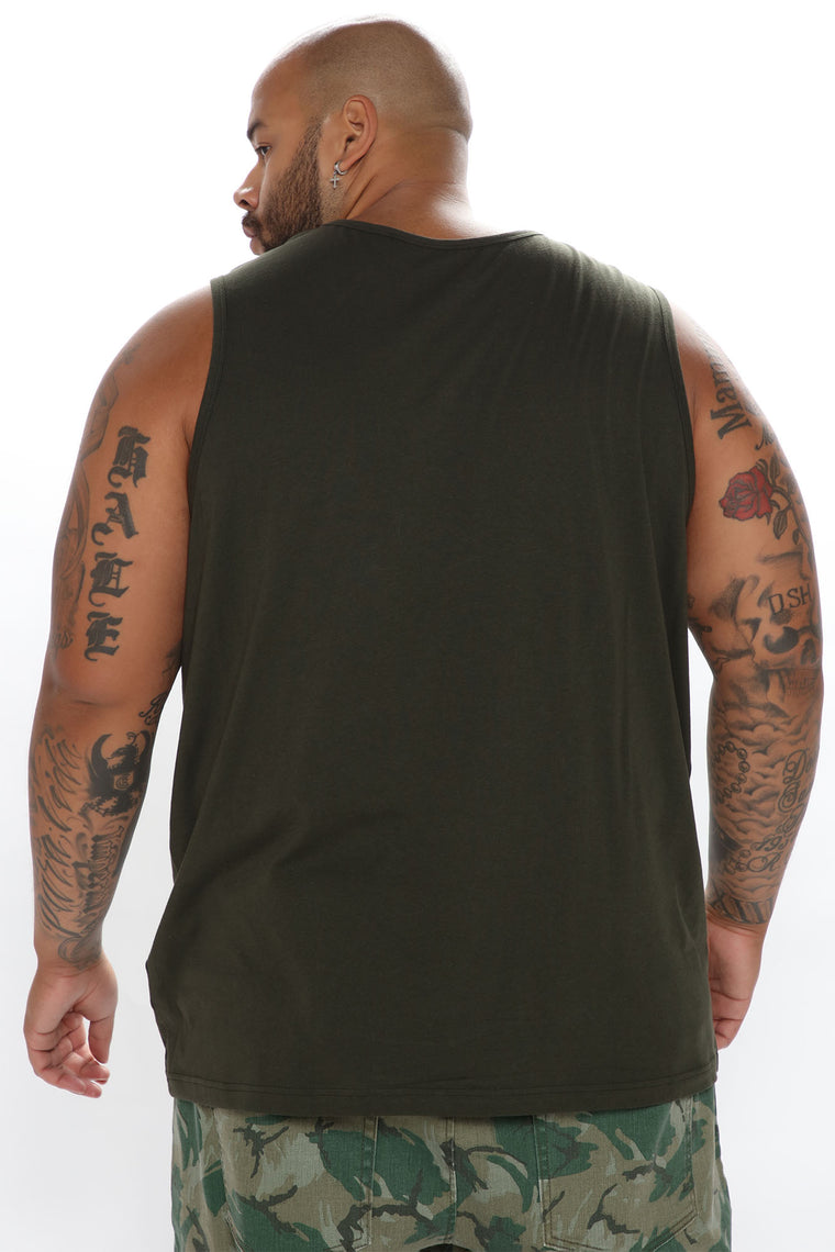 Essential Tank Top - Olive
