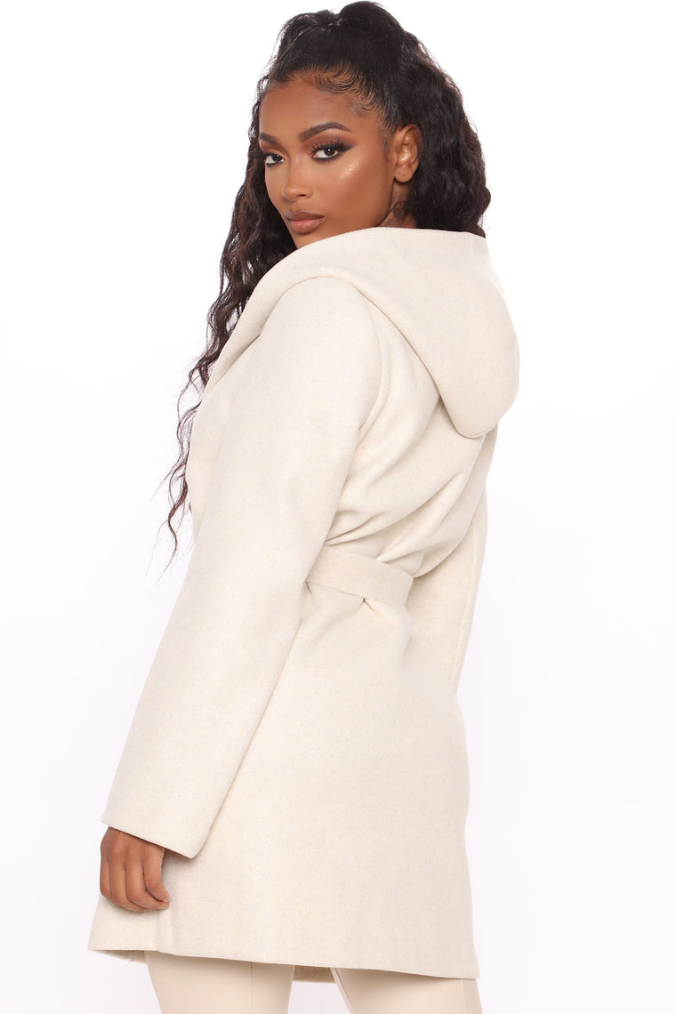 Pack Some Heat Hooded Coat - Ivory/combo