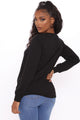 Your Fake Life Long Sleeve Top - Black