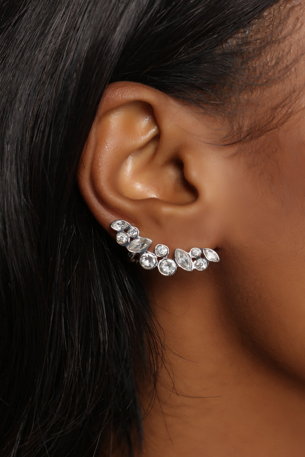 Are You Cuff Enough Earrings - Silver