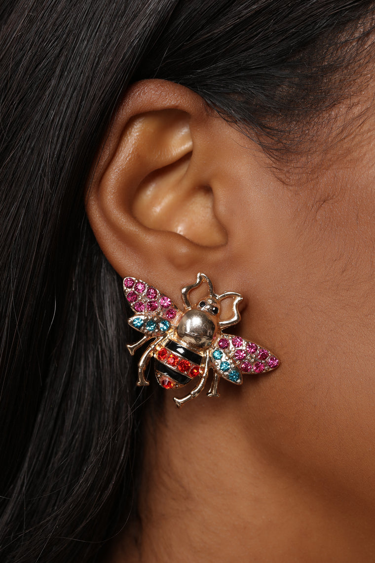 Bee That Girl Earrings - Multi
