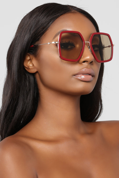 Let's Roll Sunglasses - Red