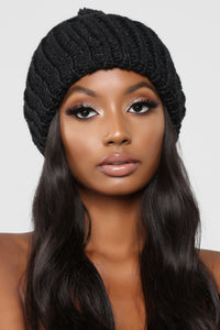 All In Sequins Beanie - Black