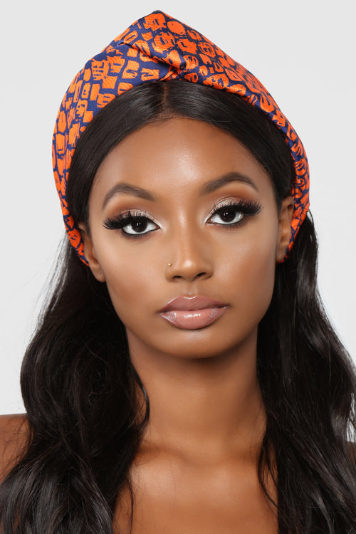 All In Your Head Wrap - Orange