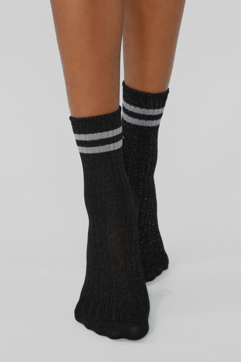Part Of The Crew Socks - Black/Grey