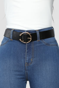 Cresent Moon Belt - Black