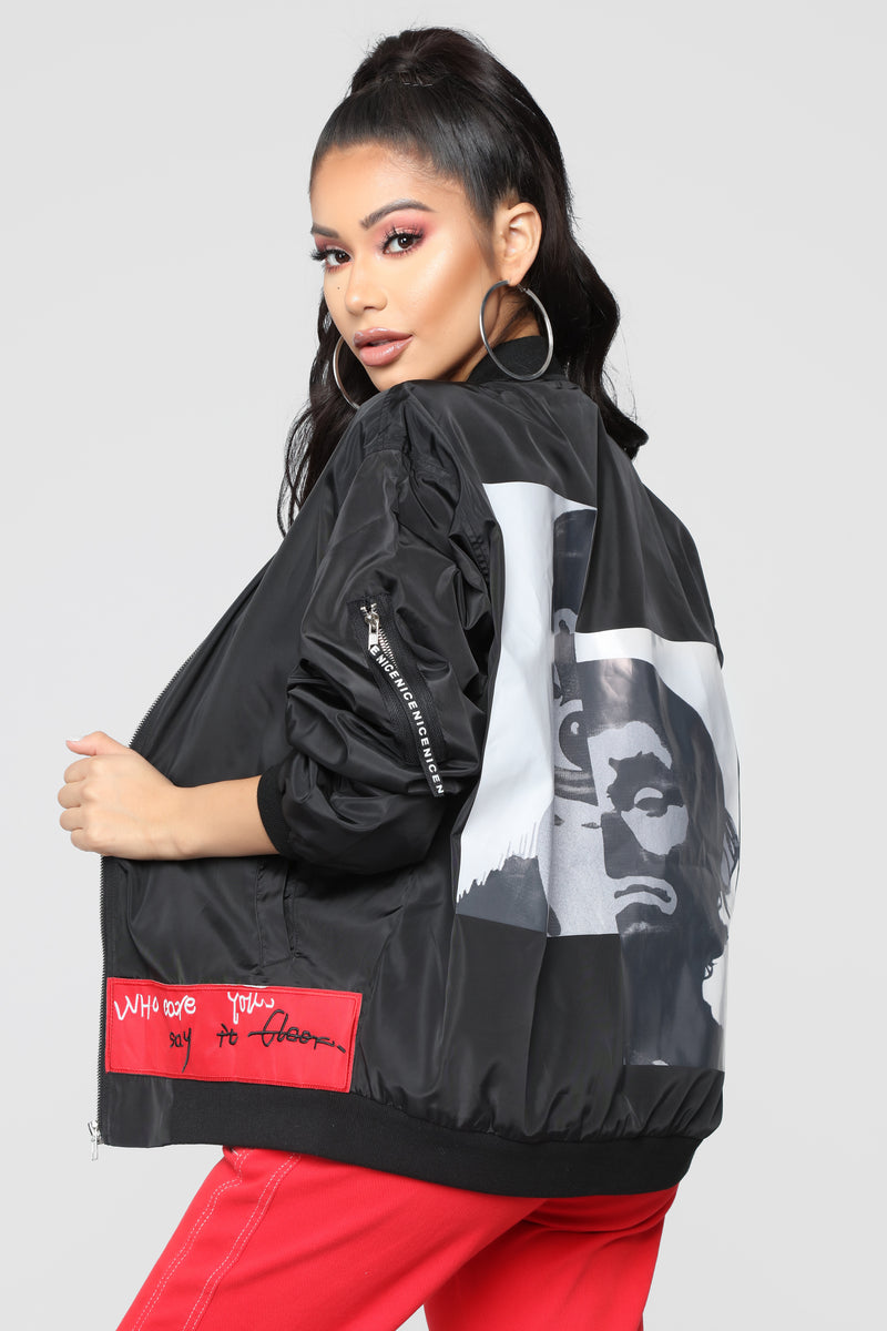 Freak Show Bomber Jacket - Black