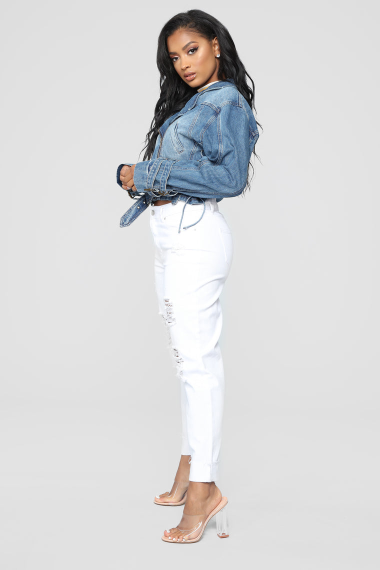 Vintage Vibes Denim Jacket - Denim