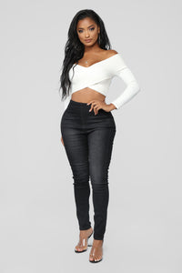 Night And Day High Rise Jeans - Black Angle 1