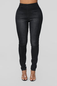 Night And Day High Rise Jeans - Black Angle 2