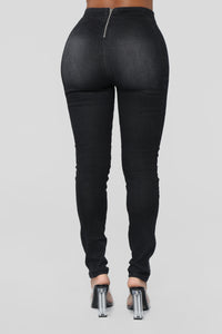 Night And Day High Rise Jeans - Black Angle 6