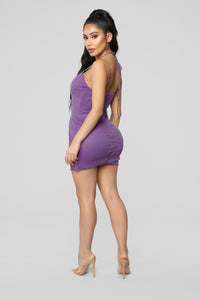 Purple Reign Glitter Dress - Purple